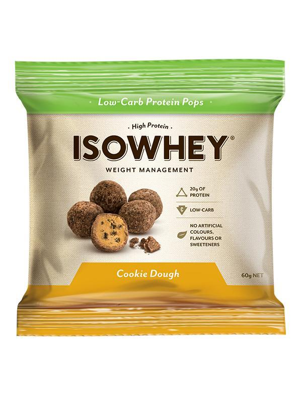 IsoWhey Protein Pops Low-Carb High Protein Snacks (Cookie Dough) 60g X 10 Packets