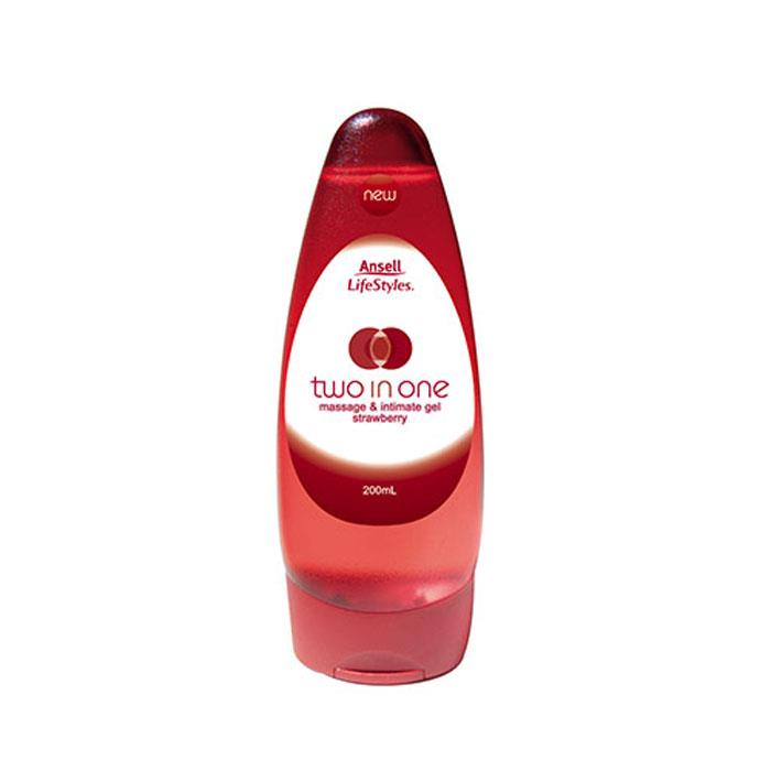 Ansell Lifestyles Two in One Massage & Intimate Gel (Strawberry) 200ml