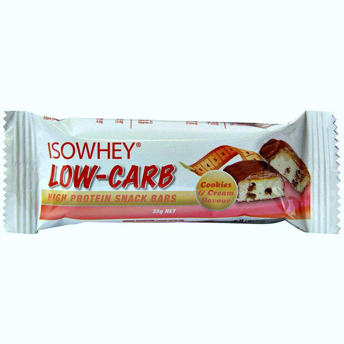 IsoWhey Low-Carb High Protein Snack Bars (Cookies & Cream) 35g X 15