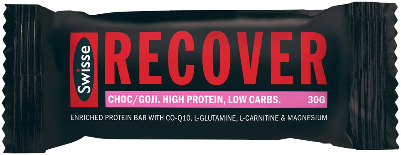 Swisse Active Recover Protein Bar Chocolate & Goji Berry 30g X 12