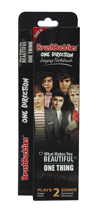 """Brush Buddies One Direction Singing Toothbrush """"What Makes You Beautiful & One Thing"""""""