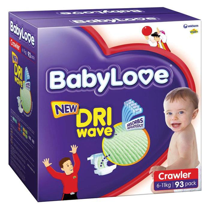 BabyLove Nappies Crawler (6-11kg) X 93 (Limit 2 boxes per order)