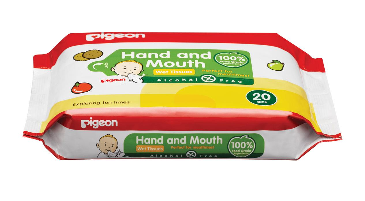 Pigeon Hand & Mouth Wipes X 20