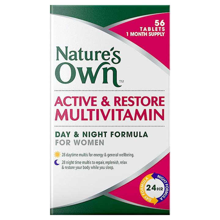 Nature's Own Active & Restore Women's Day and Night Multivitamin Tab X 56