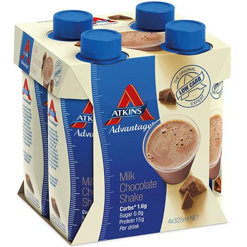 Atkins Advantage Ready-To-Drink Shake Chocolate 325ml X 4