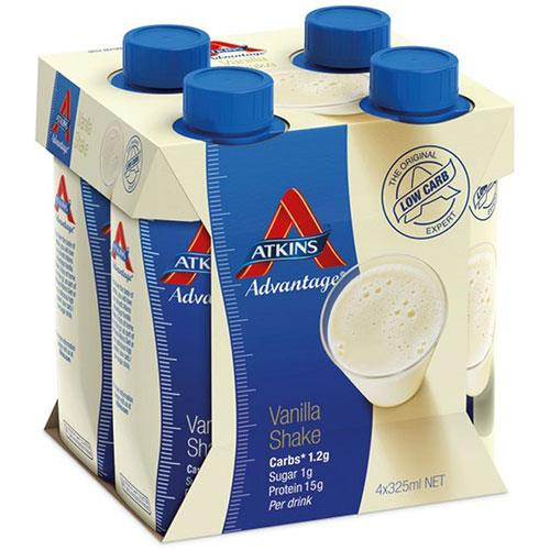 Atkins Advantage Ready-To-Drink Shake Vanilla 325ml X 4