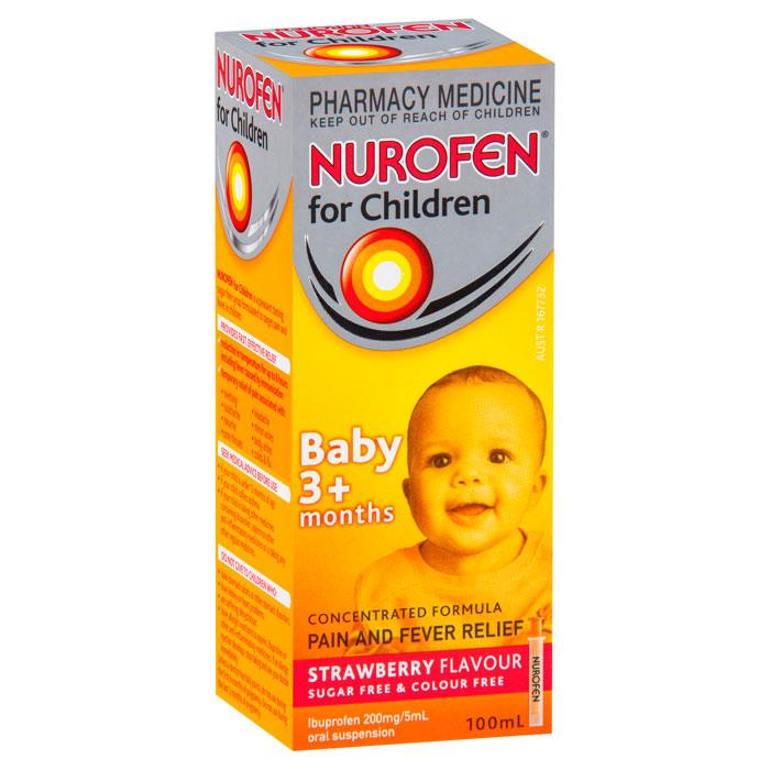 Nurofen For Baby 3+ Months (Strawberry Flavour) 100ml