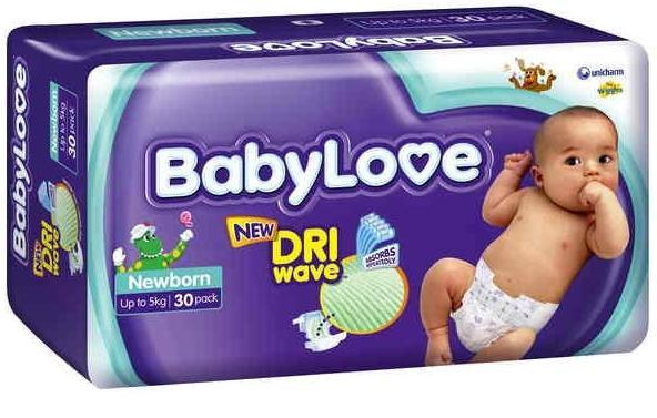BabyLove Convenience Nappies Newborn (Up To 5kg) X 30