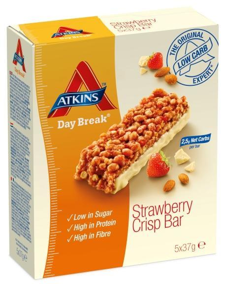 Atkins Day Break Bar Strawberry Crisp 37g X 5 (Best Before 3/7/15)