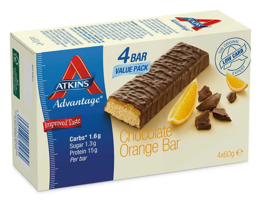 Atkins Advantage Chocolate Orange Bars 60g X 4