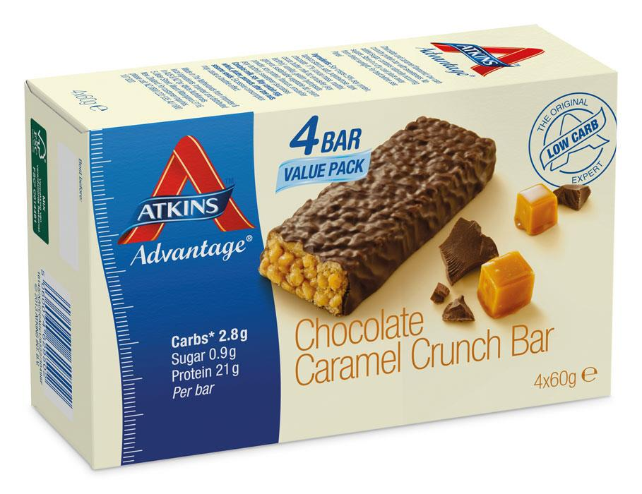 Atkins Advantage Chocolate Caramel Bars 60g X 4