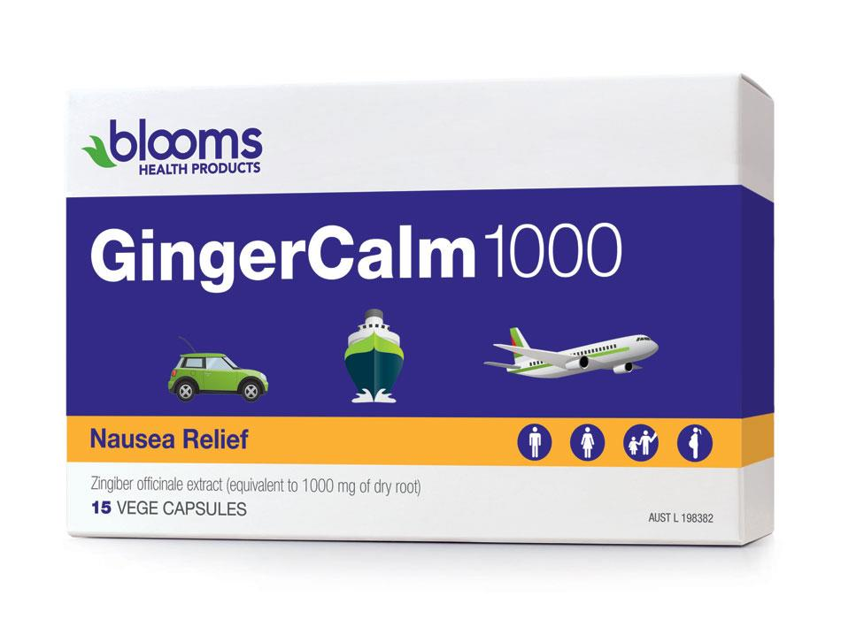 Blooms GingerCalm 1000mg Travel Pack Vegetarian Cap X 15