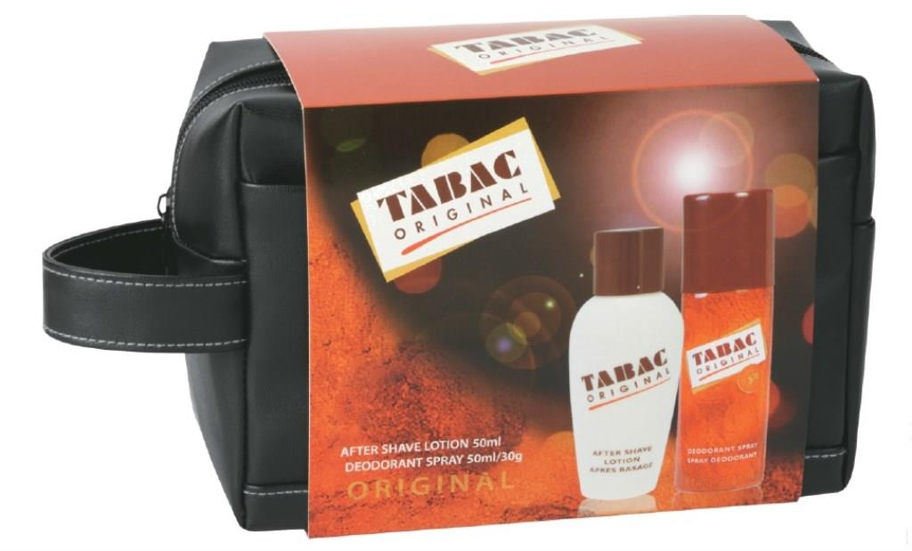 Tabac Duo Travel Bag: Deodorant Spray 50ml + After Shave Lotion 50ml