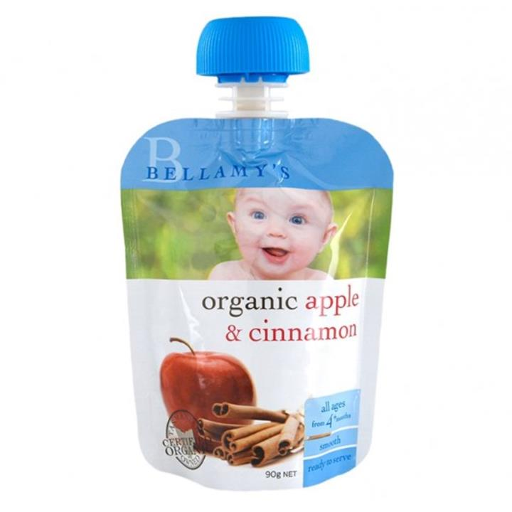 Bellamy's Organic Apple & Cinnamon Baby Food 90g