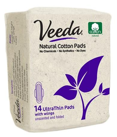 Veeda Pads Regular Day Pads Ultra Thin With Wings X 14