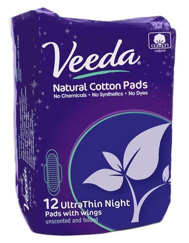 Veeda Pads Super Overnight Pads Ultra Thin With Wings X 12