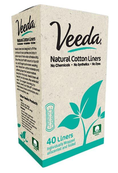 Veeda Liners Folded Natural Panty Liners X 40