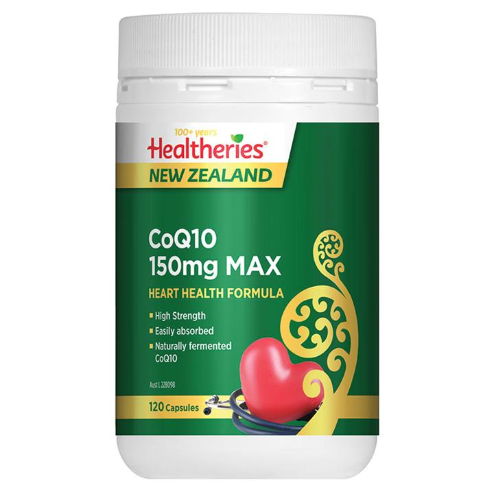 Healtheries CoQ10 150mg Max Cap X 120