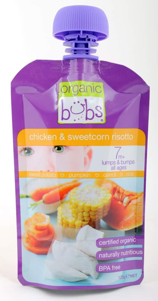 Bubs Chicken & Sweetcorn Risotto 120g (Expiry 9/5/2016)