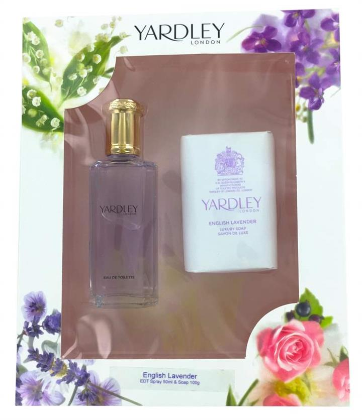 Yardley English Lavender Gift Set EDT Spray 50ml + Soap 100g