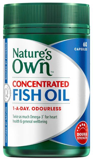 Nature's Own Concentrated Fish Oil 1000mg Cap X 60