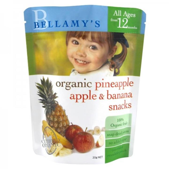 Bellamy's Organic Pineapple, Apple & Banana Snacks 20g (Best Before 30/11/16)