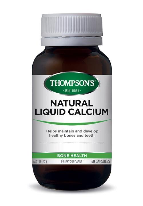 Thompson's Natural Liquid Calcium Cap X 60