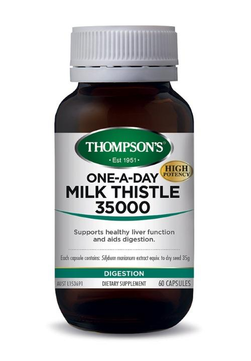 Thompson's One-A-Day Milk Thistle 35000mg Cap X 60
