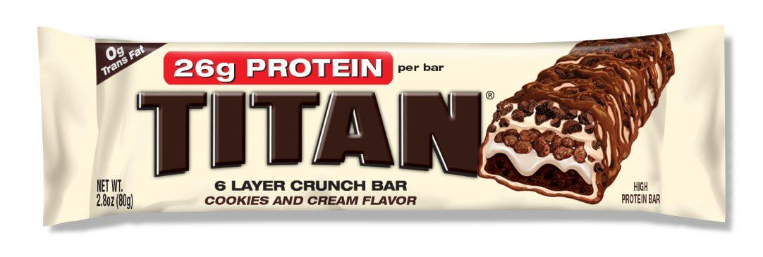 Titan Protein Bar Cookies and Cream 80g X 12 (Best Before 13/12/16)