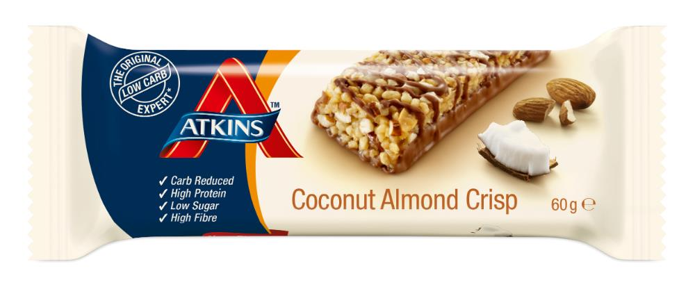 Atkins Crisp Bar (Coconut Almond) 60g (expiry 3/2/18)