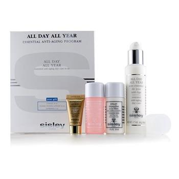Sisley All Day All Year Essential Anti-Aging Program: All Day All Year 50ml + Cleansing Milk 30ml + Floral Toning Lotion 30ml + Supremya At Night 5ml 4pcs Skincare