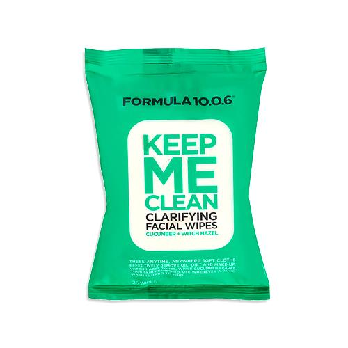 Formula 10.0.6 Keep Me Clean Clarifying Facial Wipes 25 wipes