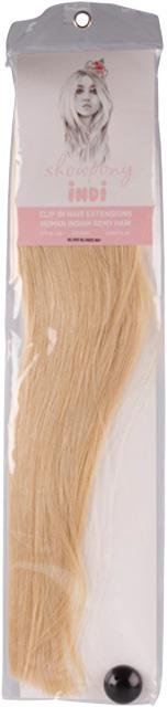 """Showpony Indi 20"""" 7 Piece Clip In Human Hair Extension - #60 Pure"""