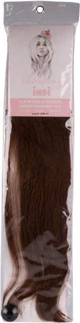 """Showpony Indi 20"""" 7 Piece Clip In Human Hair Extension - #2A Midnight"""