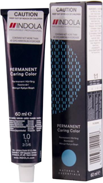 1.0 Indola Professional Permanent Caring Colour 60ml - Black Natural