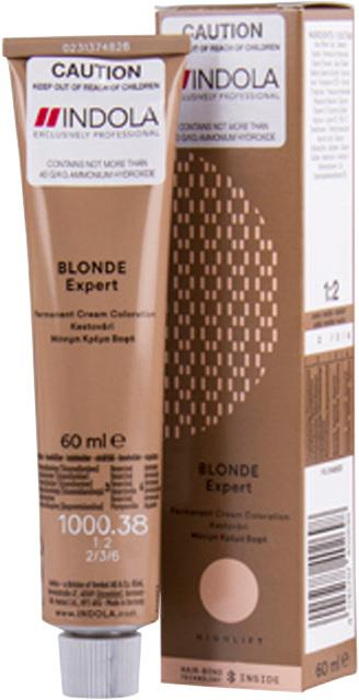 1000.38 Indola Professional Permanent Blonde Expert 60ml - Blonde Gold