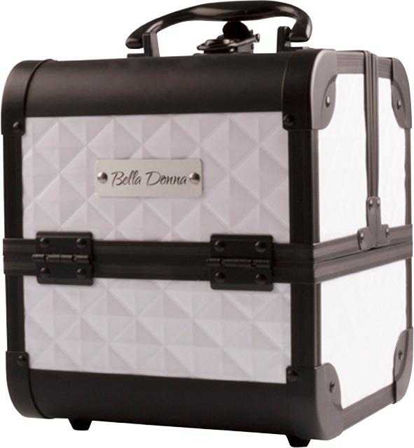 Bella Donna Petite Makeup Case White with Black Trim 185 x 185 x 205mm