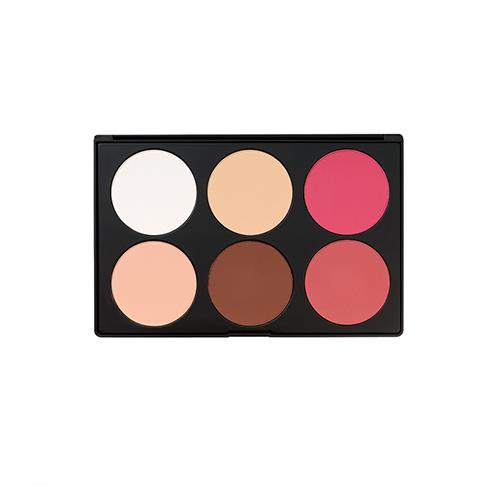 BH Cosmetics Contour & Blush 6 Color Palette