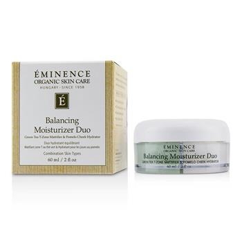 Eminence Balancing Moisturizer Duo: Green Tea T-Zone Mattifier & Pomelo Cheek Hydrator - For Combination Skin Types 60ml/2oz Skincare