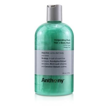 Anthony Invigorating Rush Hair & Body Wash (All Skin Types) 355ml/12oz Men's Skincare