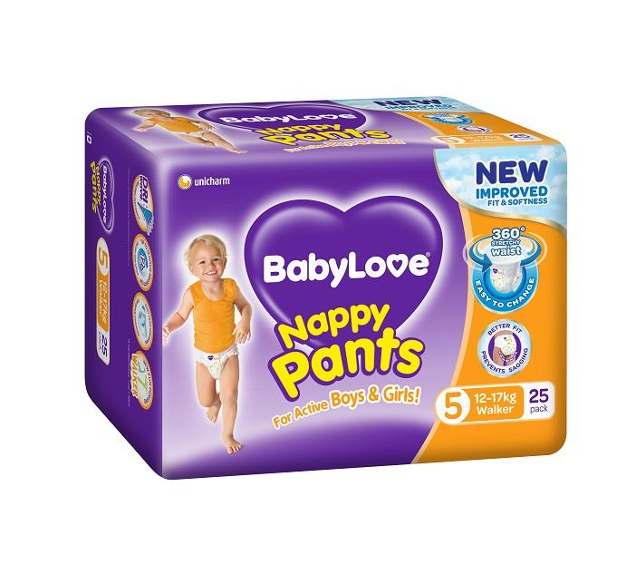 BabyLove Nappy Pants Walker (12 to 17kg) X 25  (Limit 2 per order)