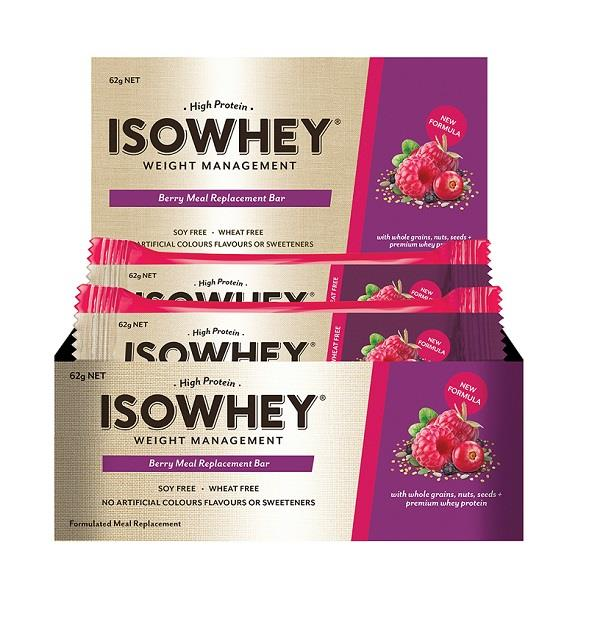 IsoWhey Meal Replacement Bar (Berry) 62g X 12