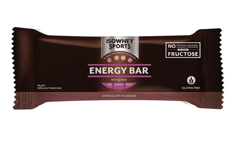 IsoWhey Sports Chocolate Energy Bar 50g X 12