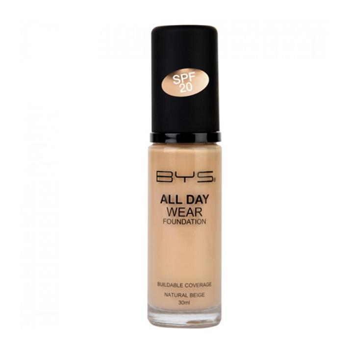 BYS All Day Wear Foundation SPF20 Natural Beige 30ml