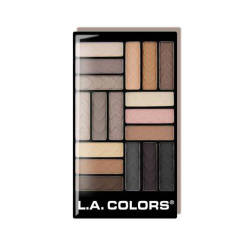 LA Colors 18 Color Eyeshadow Glam Palette Downtown Brown 19.8g