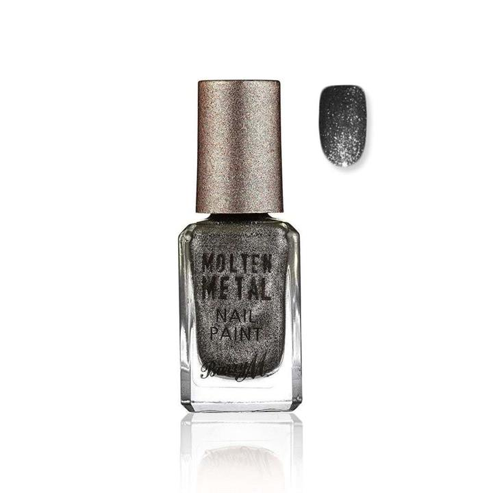 Barry M Molten Metal Nail Polish 718 Black Diamond 10ml