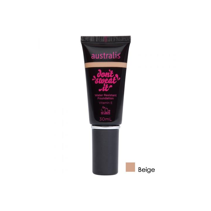 Australis Dont Sweat It Water Resistant Foundation Beige 30ml