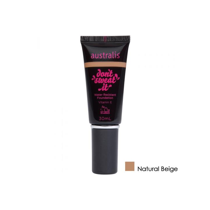 Australis Dont Sweat It Water Resistant Foundation Natural Beige 30ml