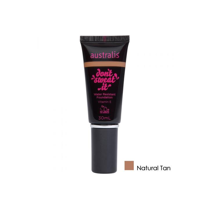Australis Dont Sweat It Water Resistant Foundation Natural Tan 30ml