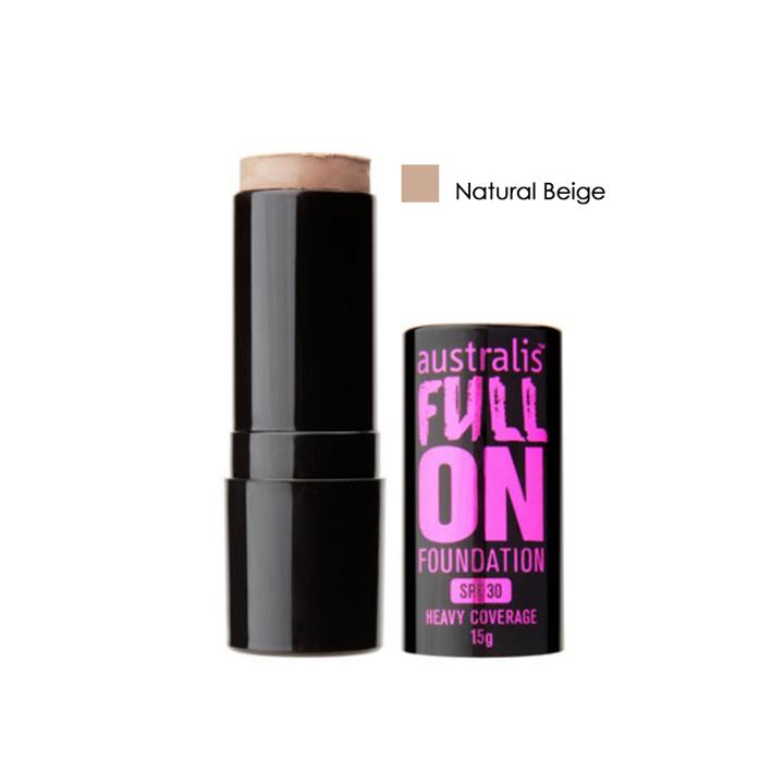 Australis Full On Foundation SPF30 Natural Beige